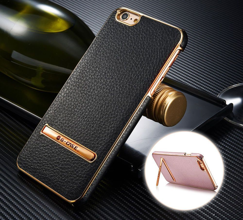 iphone 6 gold leather case