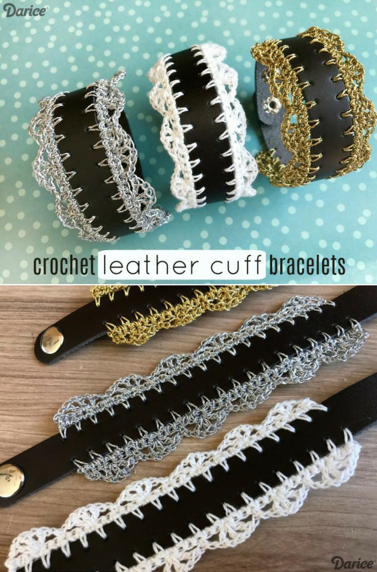 Dorable Crochet Cuff Bracelet Free Pattern Elaboration - Sewing ...