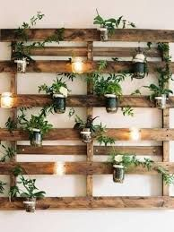 Image Result For Wood Pallet Wall Hanging Plants Room