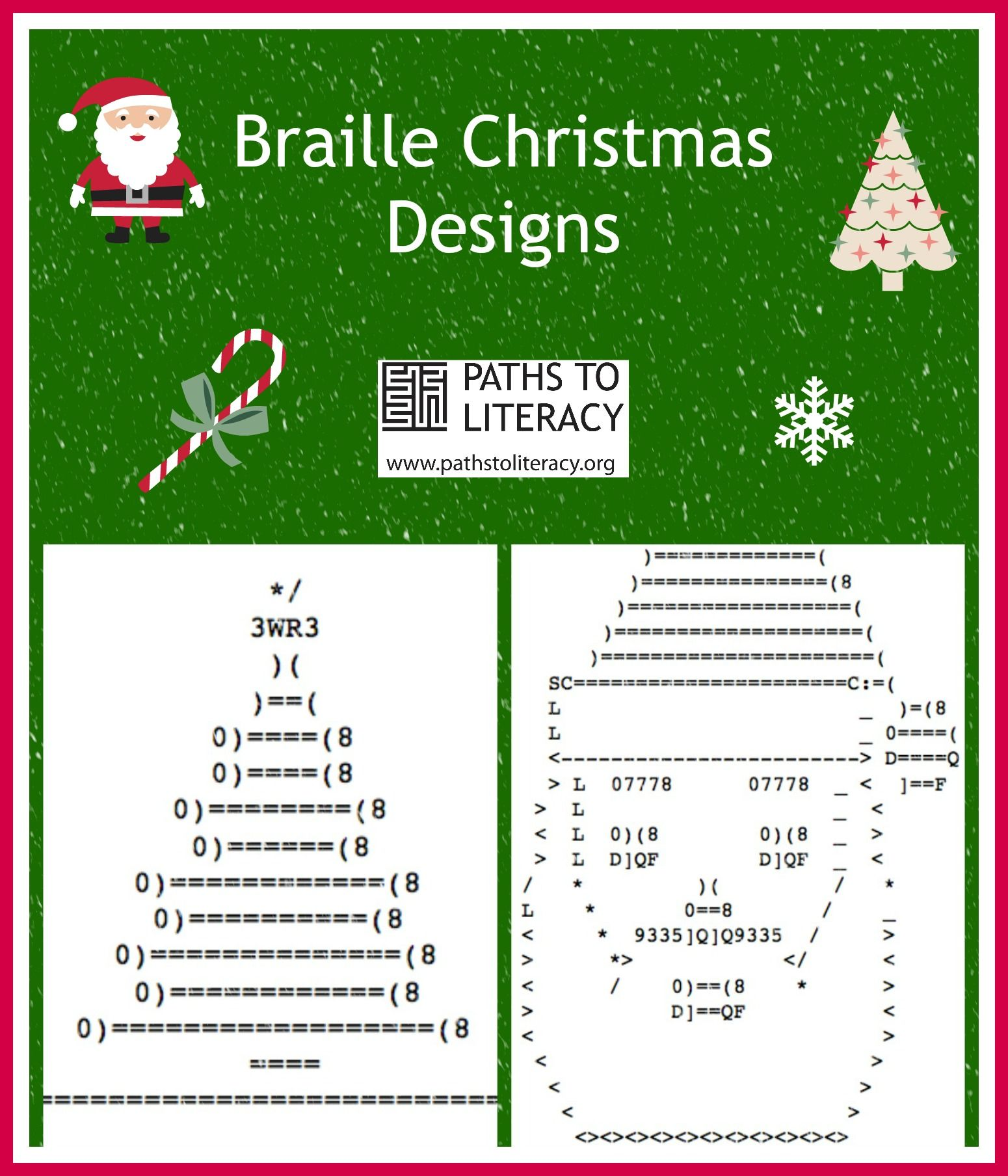 Braille Designs For Christmas