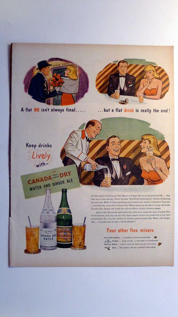 1945 LIFE Magazine Canada Dry Ginger Ale Ad - vintage magazine ad framable