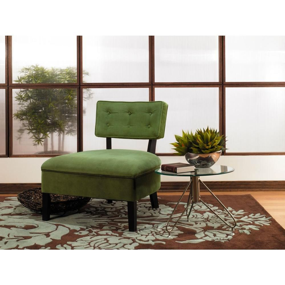 Brilliant Ave Six Curves Spring Green Velvet Accent Chair 10 Ft X 24 Caraccident5 Cool Chair Designs And Ideas Caraccident5Info