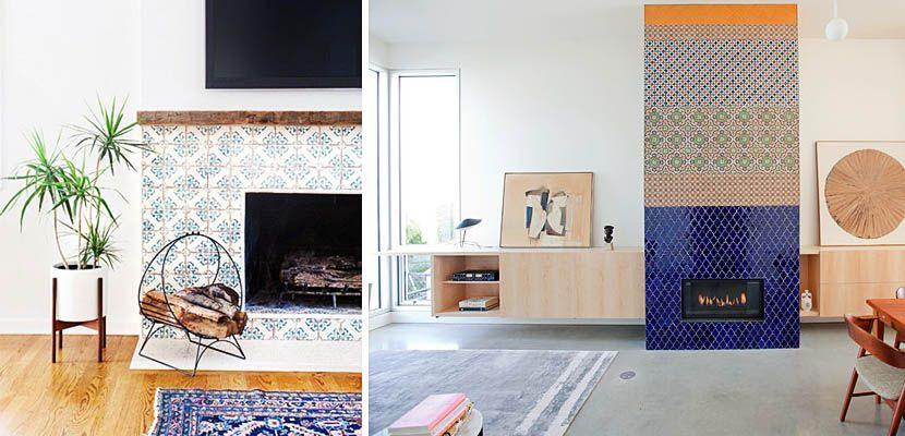azulejos de colores para vestir la chimenea httpdecoora