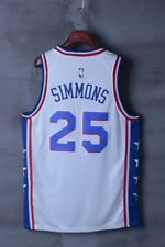 8eeb246ff NWT Philadelphia 76ers Ben Simmons  25 men s white jersey S-2XL ...