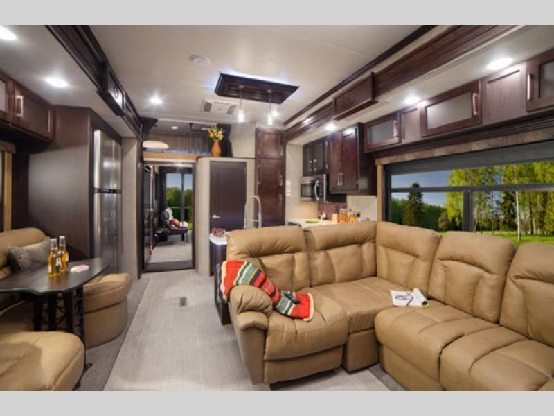Raptor Toy Hauler Fifth Wheel Rv Sales 8 Floorplans Interior Design Living Room Grey Interior Design Interior Design Videos #rv #with #front #living #room