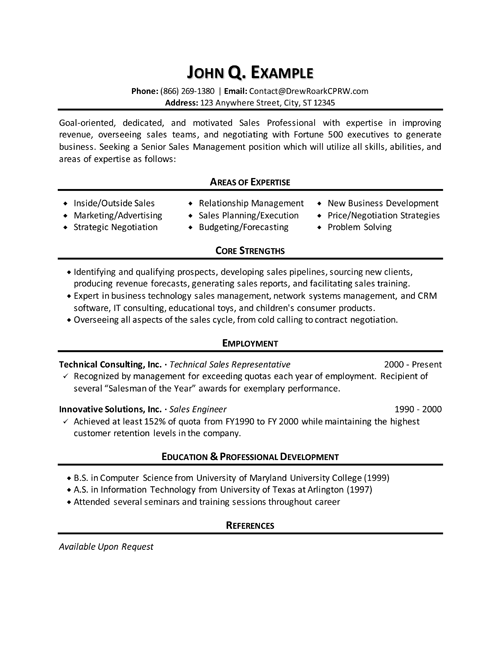 Templates For Sales Manager Resumes Sales Management Resumes