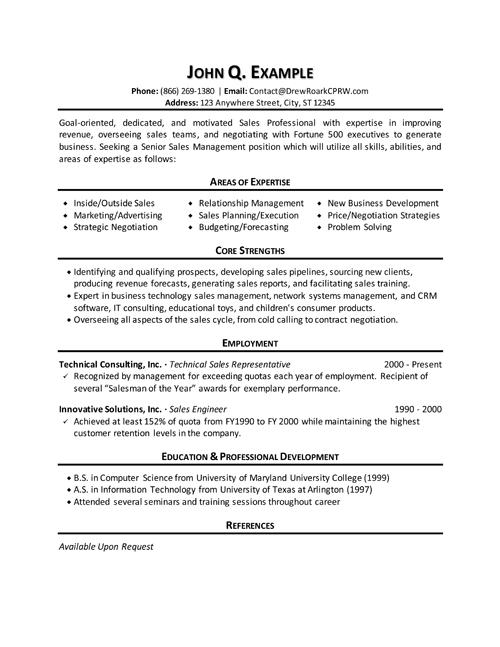 outside sales executive resume sample