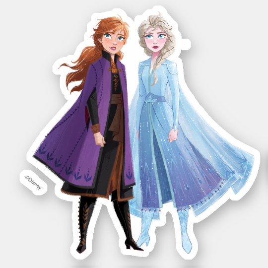 Frozen 2 Anna Elsa A Journey Together Sticker Zazzle Com Em 2021 Decoracao Aniversario Frozen Festa Frozen Bolos Para Criancas