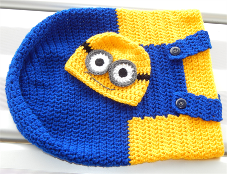 Minion style cocoon and Beanie | Minions | Pinterest