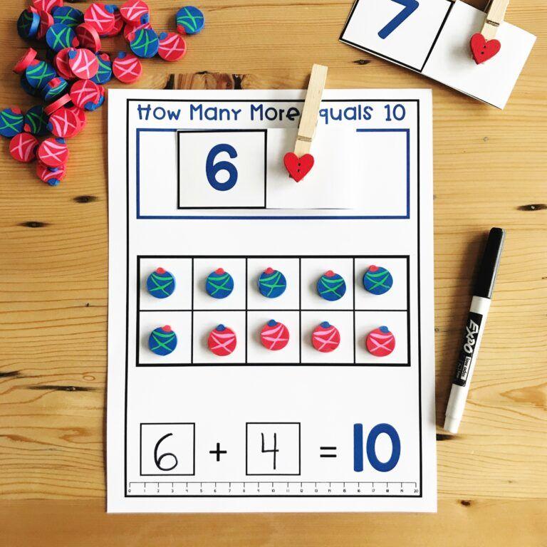 Photo of Christmas Mini Eraser Math Activities – Differentiated Kindergarten