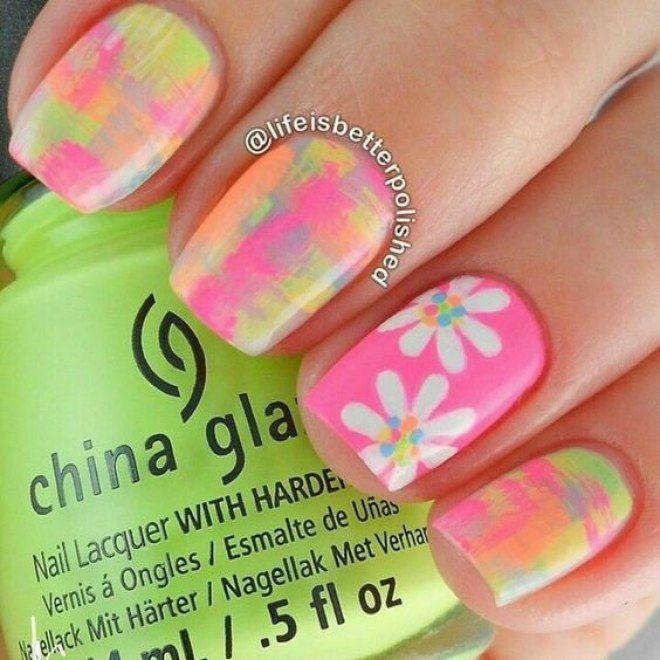Diseños de flores para tus uñas, para llevar siempre contigo la ...
