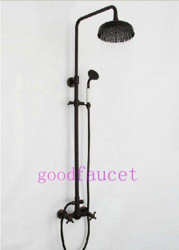Oil Rubbed Bronze Rain Shower Set Faucet 8 Shower Double Handle