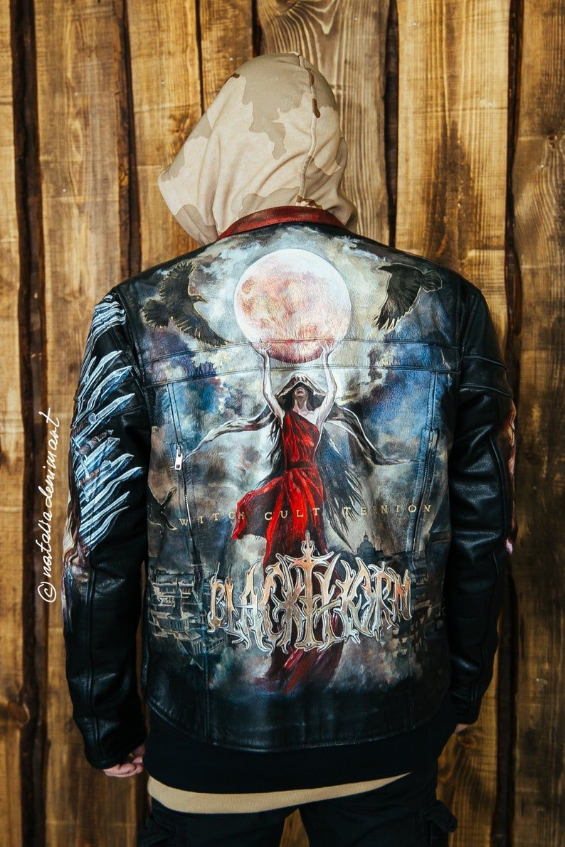 This Item Is Unavailable Etsy Custom Leather Jackets Painted Leather Jacket Black Leather Jeans [ 1191 x 794 Pixel ]