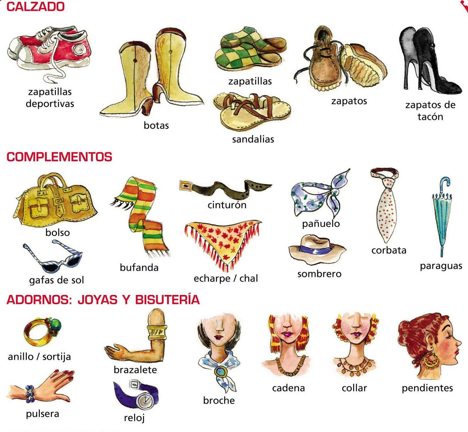 Complementos De Vestir Spanish