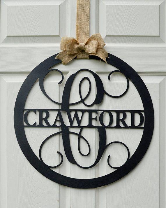 """24"""" Wooden Letter - Painted Monogram - Door Hanger ..."""