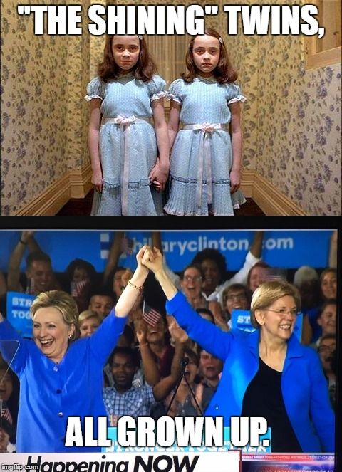The Shining Twins Hillary Clinton And Elizabeth Warren