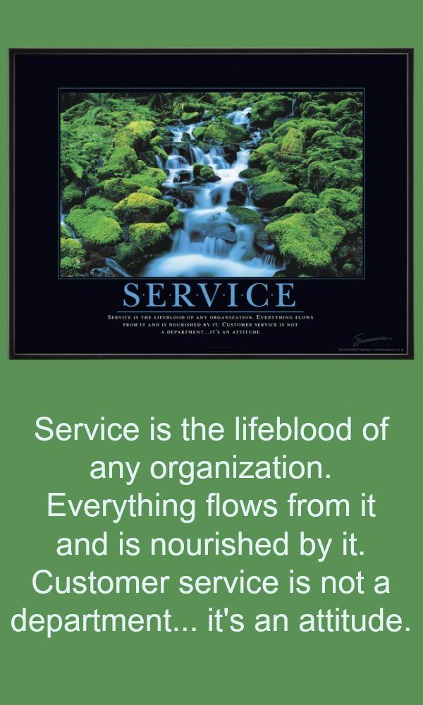 Service Waterfall Motivational Poster Motivational
