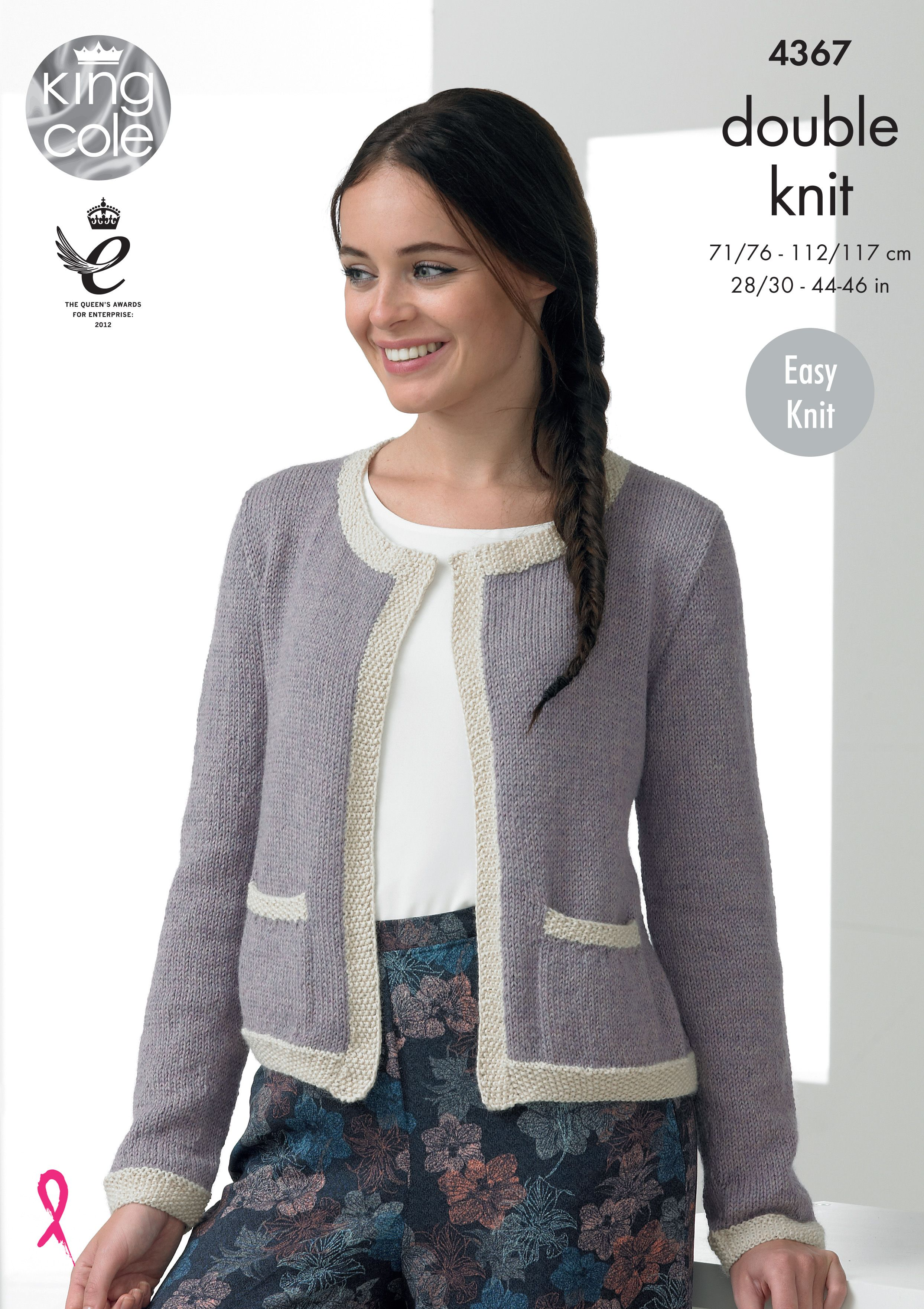 e307ab2f4 Jacket and Sweater Knitted with Baby Alpaca DK - King Cole ...
