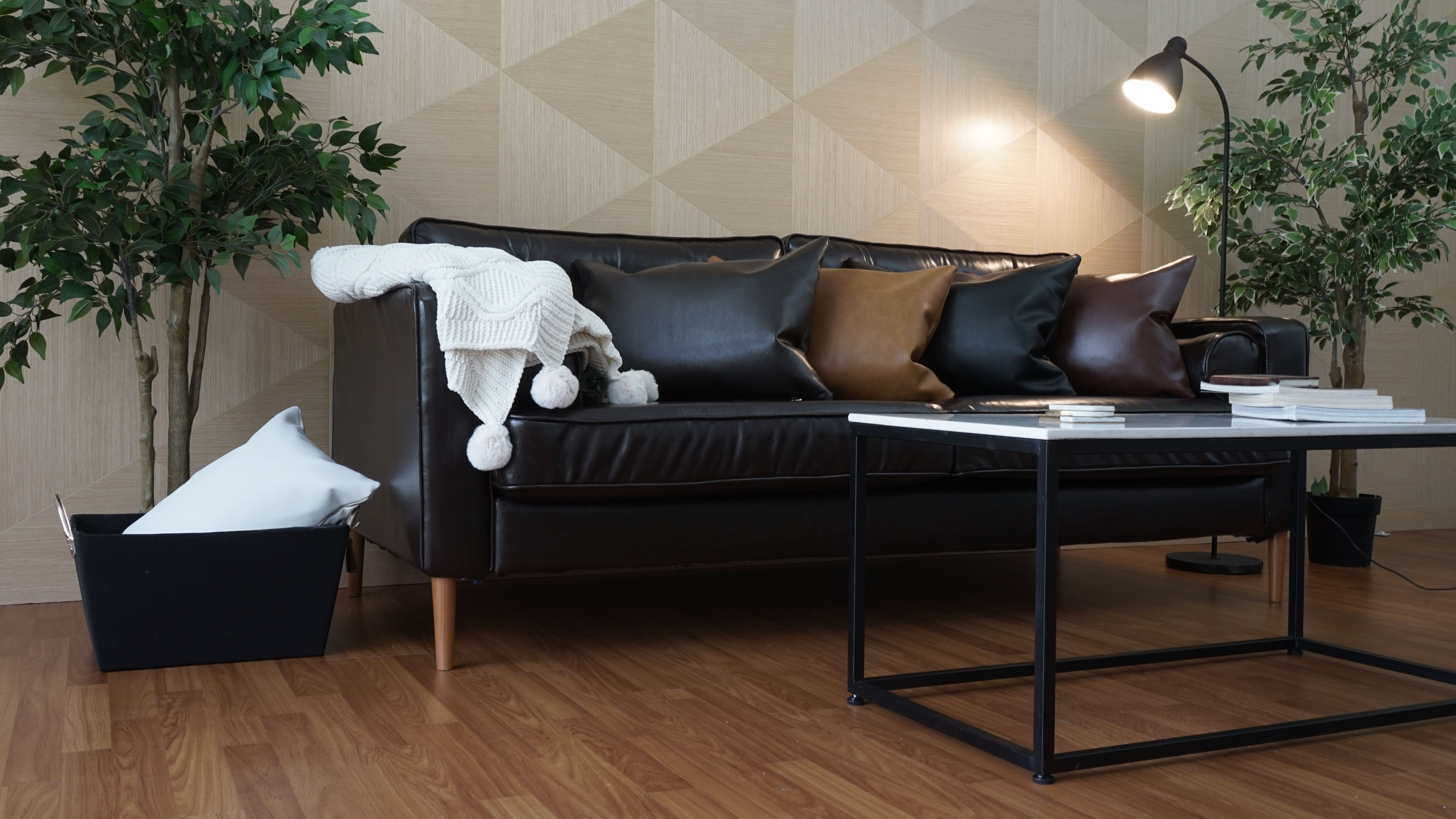 Slipcovers for sofas made of bycast leather by Comfort Works for the ...