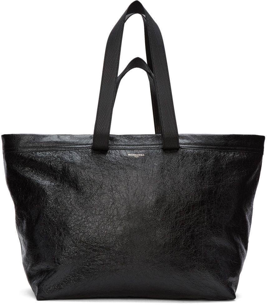 BALENCIAGA Cabas Noir Arena Shopper. #balenciaga #bags ...