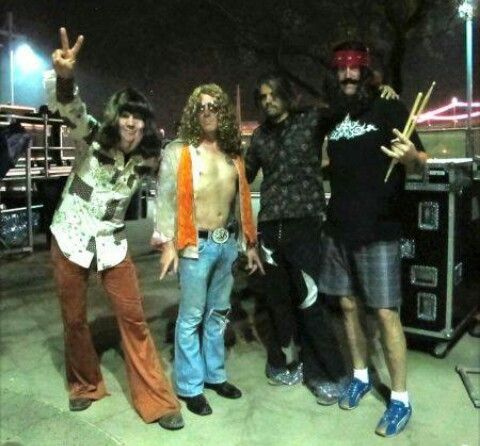 Tool in their Led Zeppelin Halloween costumes at the Monster Mash festival  in Tempe, Arizona