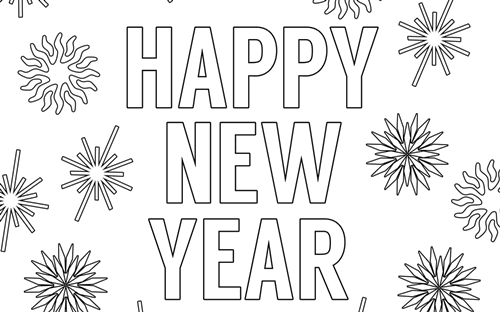 Happy New Year 2021 Coloring Pages New Year Coloring Pages Printable Coloring Pages Free Printable Coloring Pages