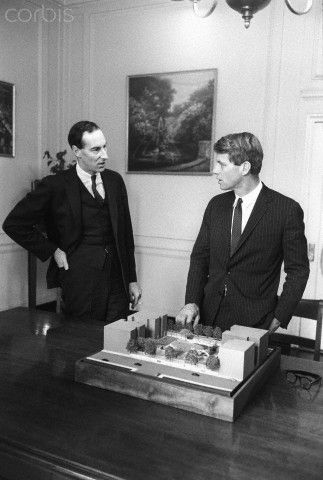 Thomas Hoving and Senator Robert F. Kennedy                                                   Stock Photo ID:  42-24001968   Date Photographed:  1966