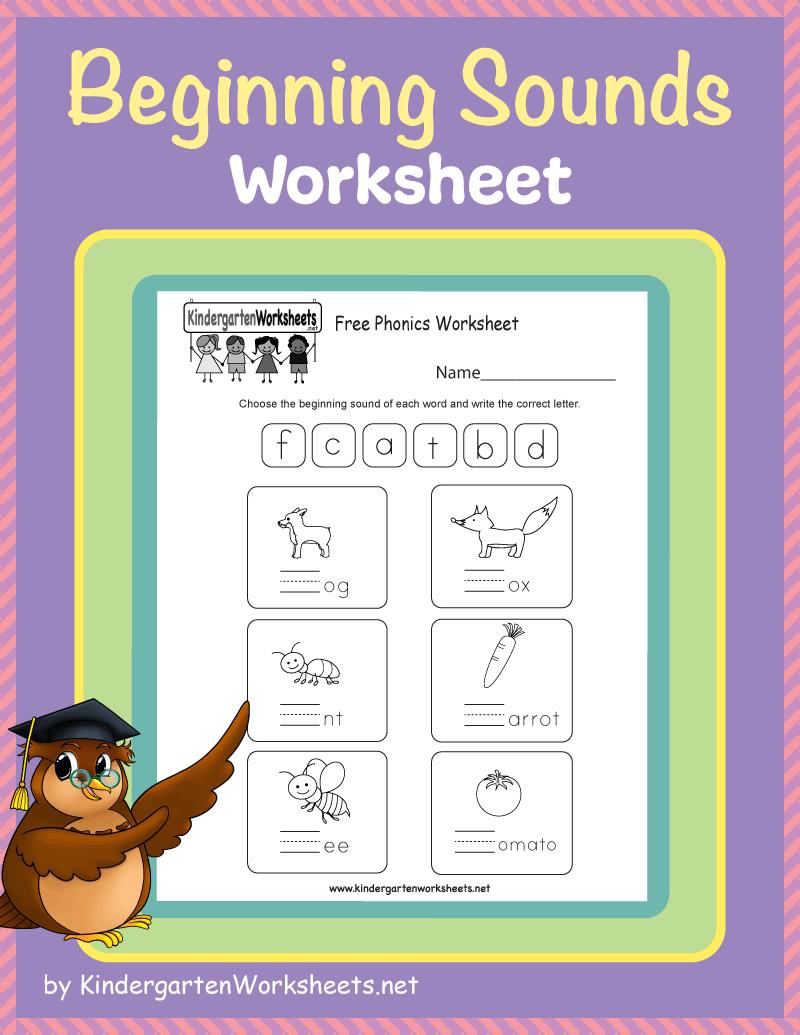Kindergarten Beginning Sounds Worksheets Phonics Worksheets Free Beginning Sounds Worksheets Phonics Free [ 1035 x 800 Pixel ]