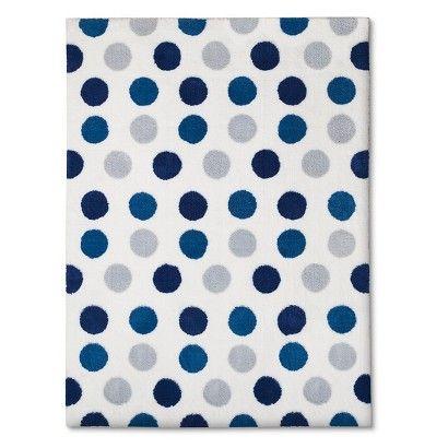 Circo™ Polka Dot Area Rug   Blue