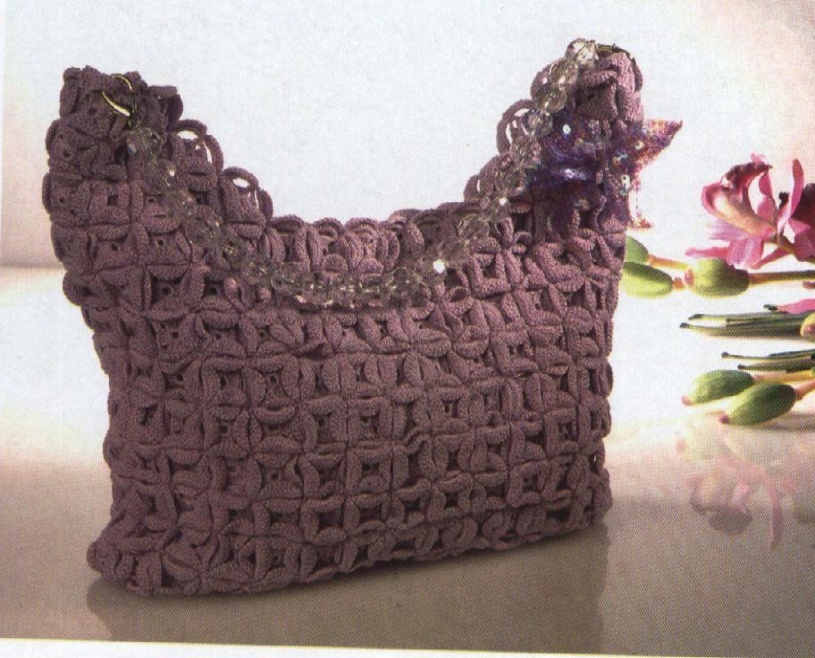 C mo hacer un bonito bolso tejido a crochet crochet - Como hacer bolsos tejidos ...