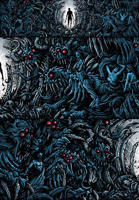 Dan Mumford Bizarre art, Heavy metal art, Music artwork