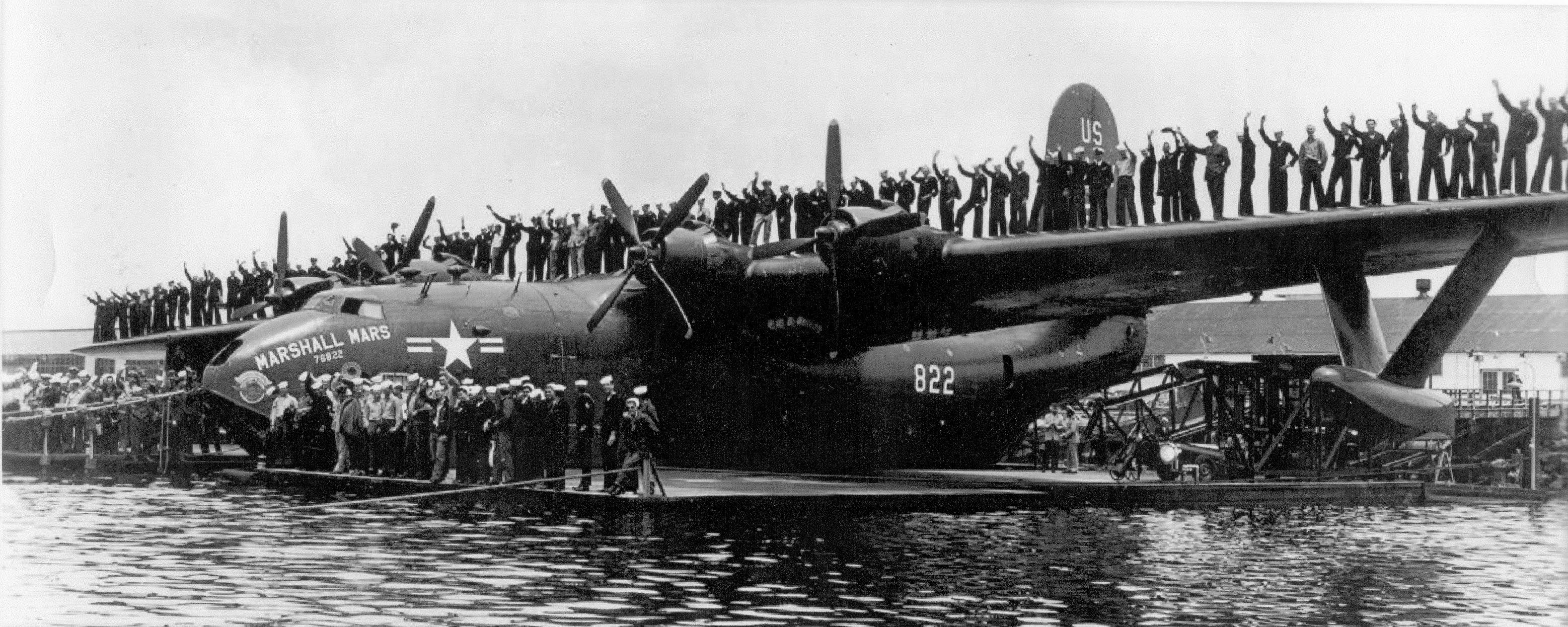 """Aeronautics Vintage Marshall Mars """"flying boat"""" aircraft"""