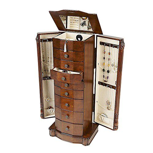 Hives And Honey Henry Iv Walnut Jewelry Armoire 2015 Amazon Top