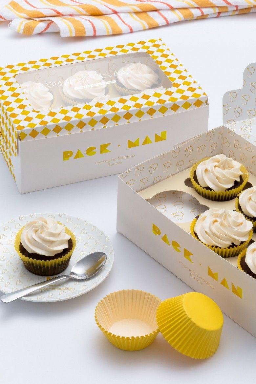 Download Six Cupcake Box Mockup 05 Cake Boxes Packaging Cupcake Packaging Cake Packaging