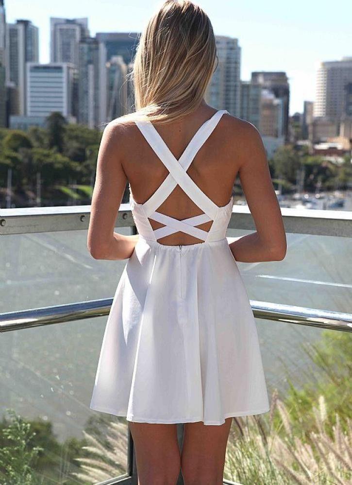 White skater dress for sale.