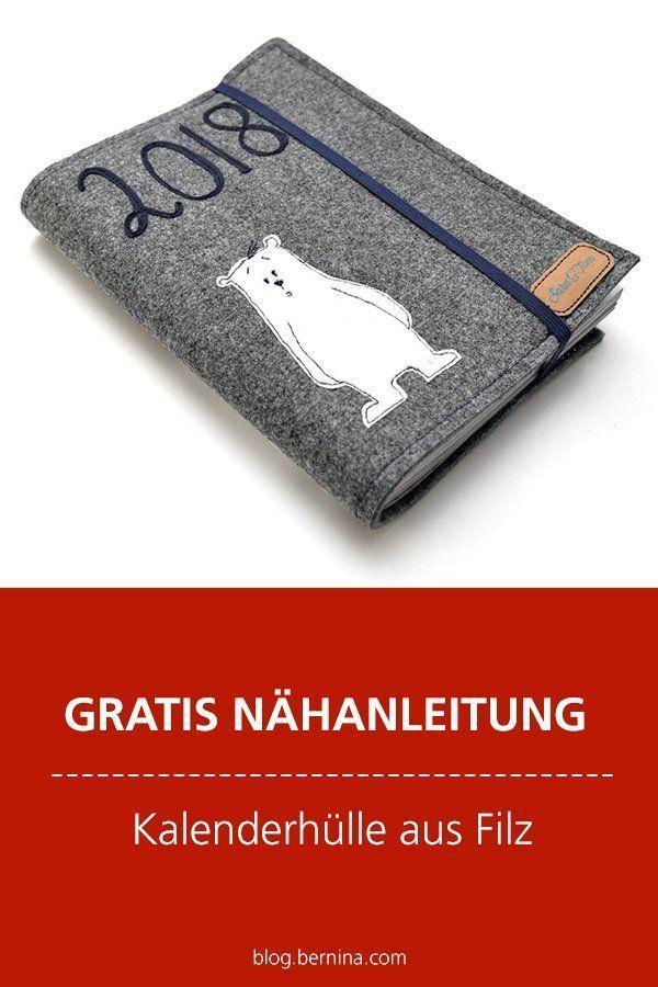 Photo of Kostenlose Nähanleitung: Nähen und Aufbringen einer Kalenderhülle aus Filz …