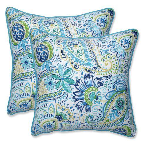 Gilford Baltic Indoor Outdoor Throw Pillow Pillows In 2019