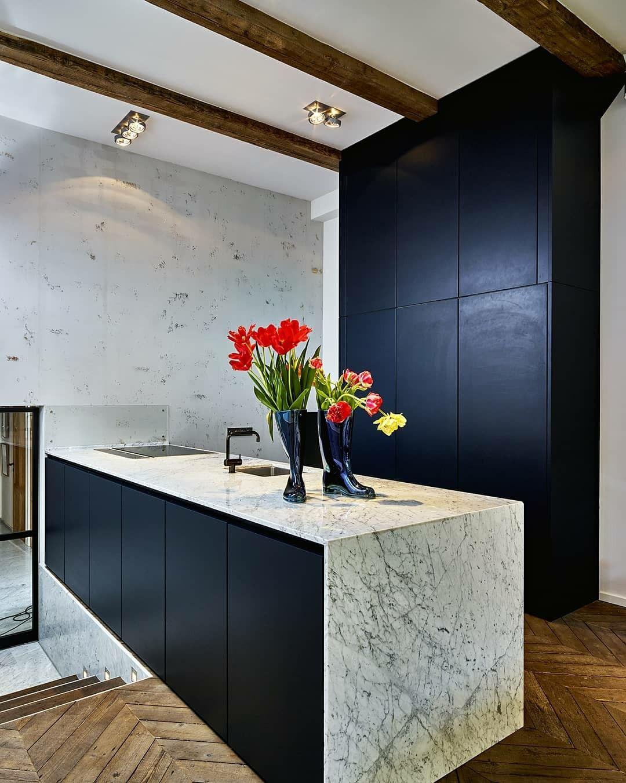 Next125 Keuken In Indigoblauw Kuche Marmor Arbeitsplatte Arbeitsplatte