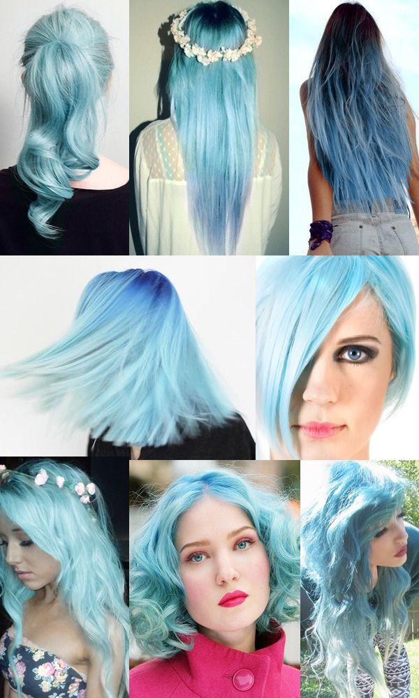 Pastel Baby Blue Hair Summer Hair Inspiration You Can Not Miss