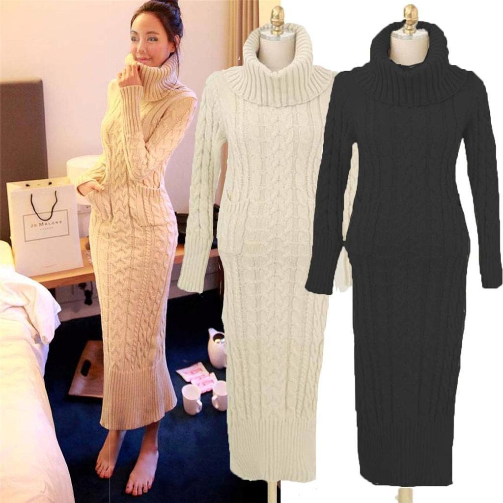 Maxi dress long sweater