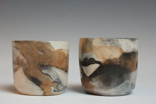 Patricia Millar Ceramics Pit Firing Ash Glaze Peat Forms Pit Fired Ware Ceramics Pottery Candle Holders