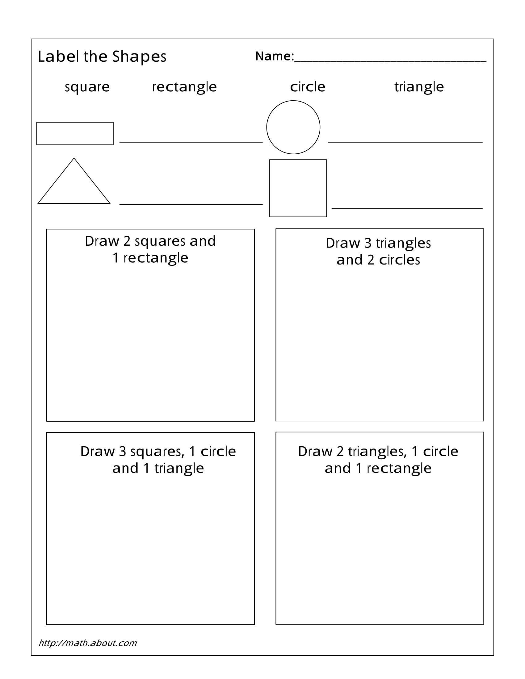 1st Grade Geometry Worksheets For Students Geometry Worksheets Printable Math Worksheets First Grade Math