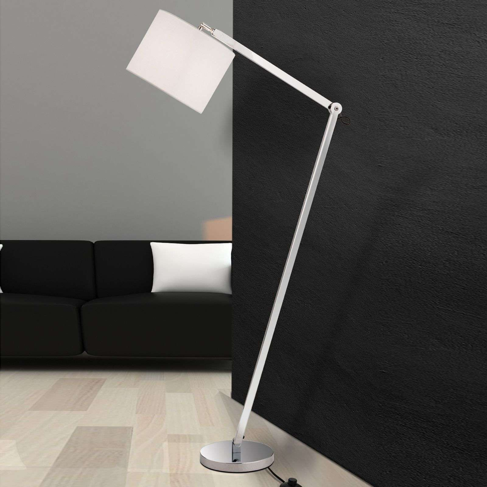Lampadaire Artak A Abat Jour En Lin Blanc In 2020 Floor Lamp Lamp White Linen