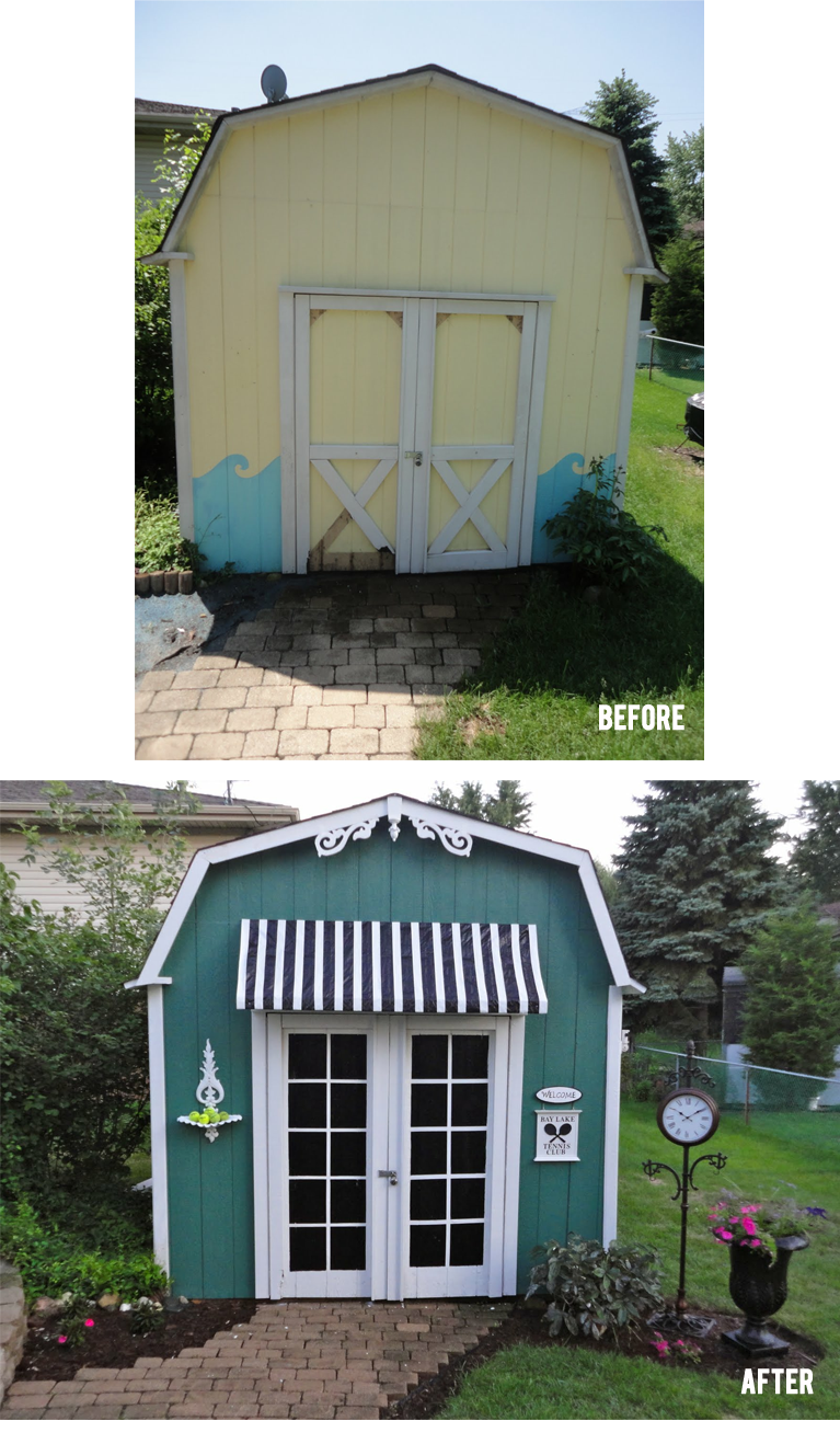 White Doors With Painted Squares To Give Illusion Of French Doors Shed  Makeover I Think You Should Make Ed Do This. :)