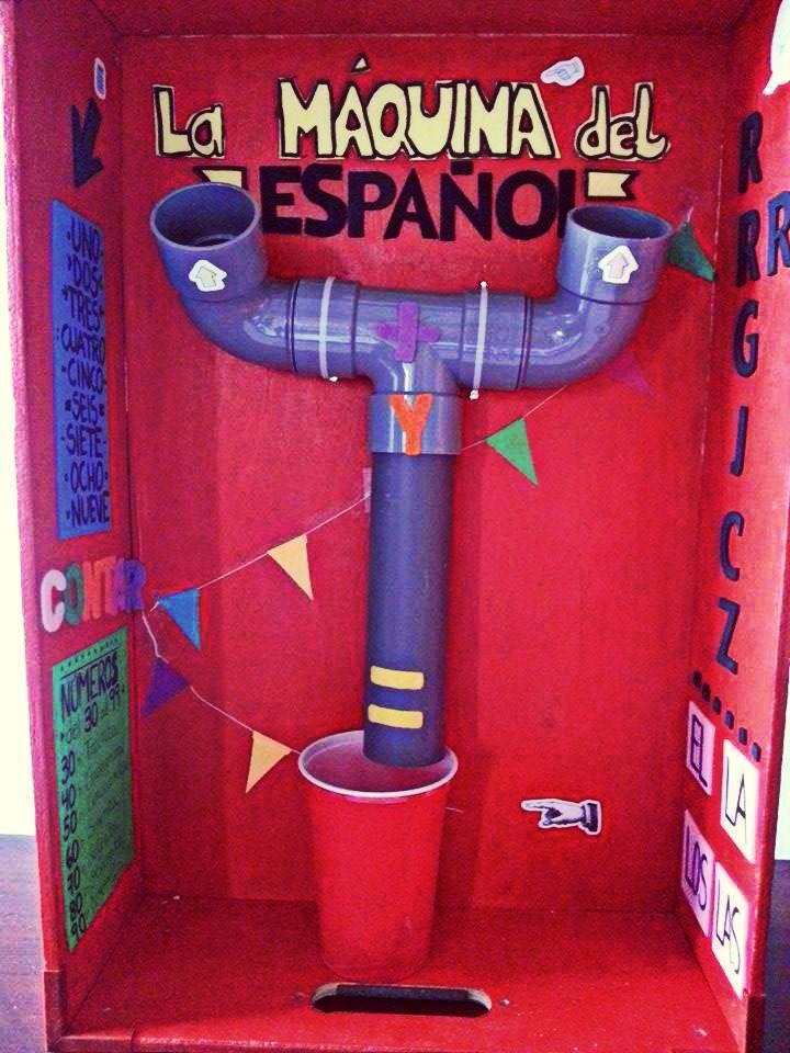 Máquina de gramática y matemáticas en español. Spanish school machine. Addition. Grammar. Words. Creation. Numbers. Pronunciation. Vocabulary.