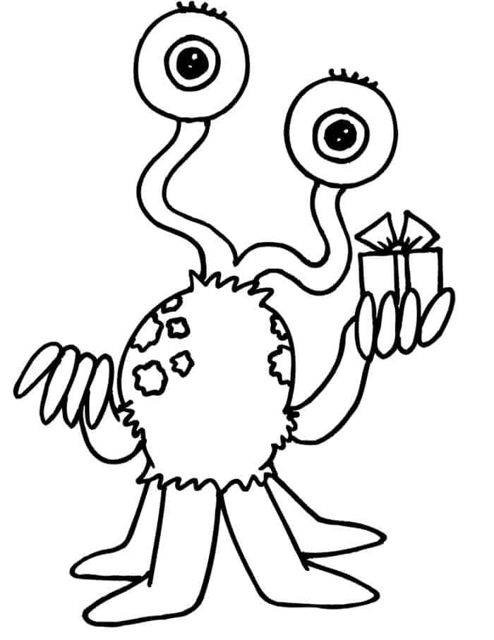 Alien Coloring Pages in 2020 (With images) | Monster ...