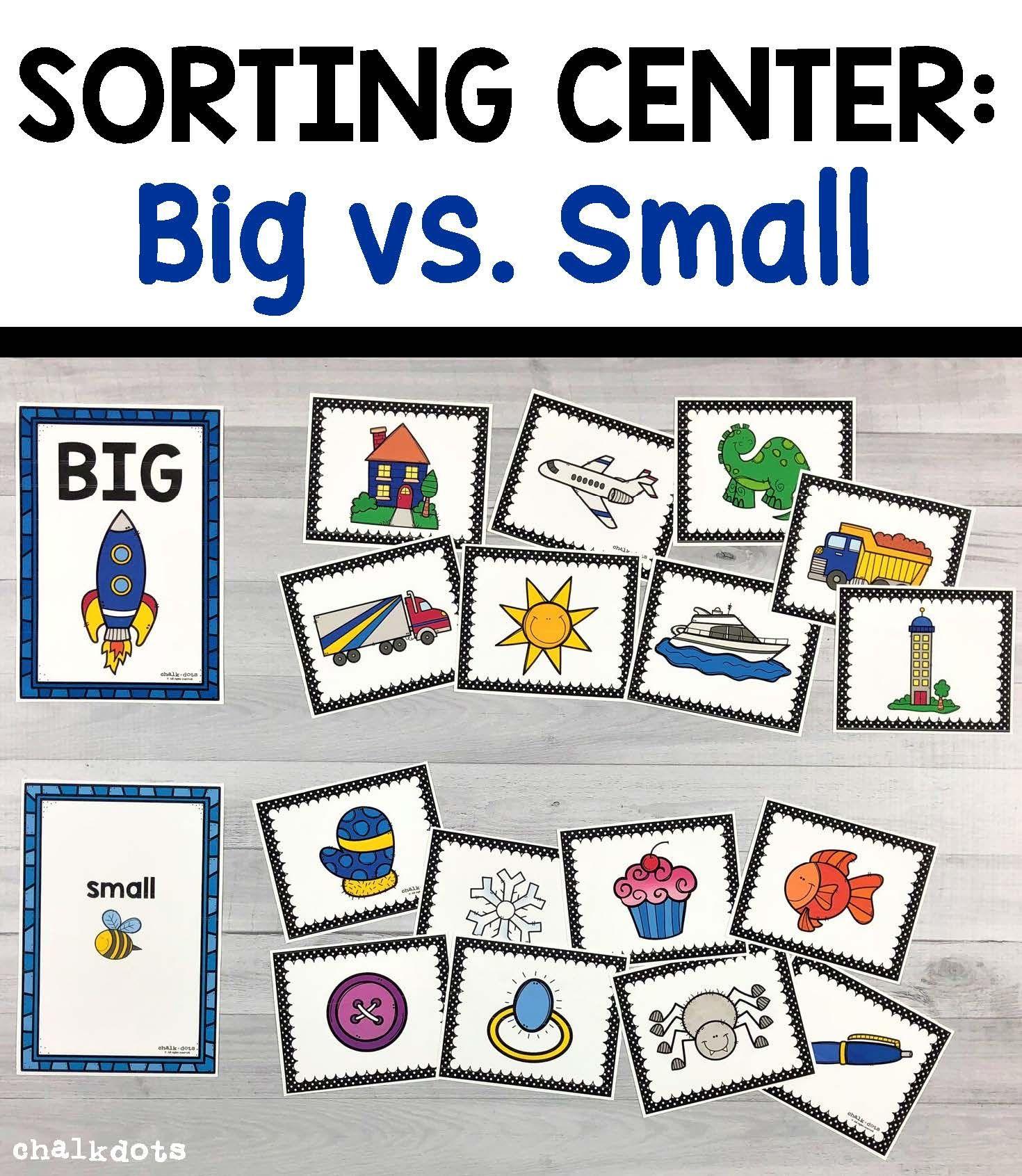 Big Vs Small Sorting Circle Time Activities Preschool Activities Toddler Learning Activities [ 1691 x 1470 Pixel ]