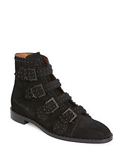 Givenchy - Studded Suede Ankle Boots