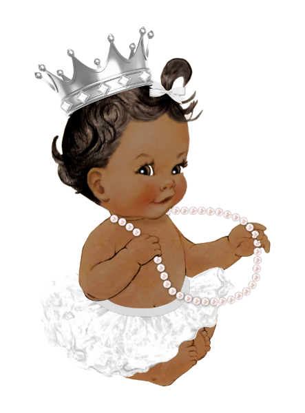African American Princess Baby Shower Invitation Zazzle Com Black Baby Art Baby Girl Drawing Baby Girl Art