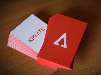 Modern Die Cut Business Cards